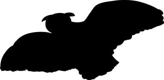 Flying Owl Silhouette Stock Images