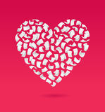 Flying pages in the shape of heart Stock Image