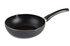 Flying pan with non-stick surface isolated Stock Photos