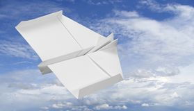 Flying paper plane Stock Images