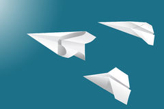 Flying Paper Planes Royalty Free Stock Photography