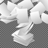 Flying paper sheets Stock Photography