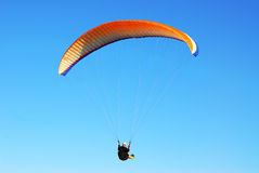 Flying parachute Royalty Free Stock Image