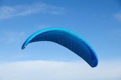 Flying parachute in th sky Stock Photography