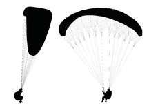 Flying paraglider Royalty Free Stock Photos