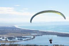 Flying Paraglider Stock Image