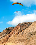 Flying paraglider Royalty Free Stock Image