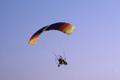 Flying paraglider in the sky Stock Photo