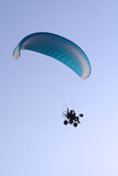 Flying paraglider in the sky Stock Photography