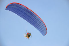 Flying paraglider in the sky  - Stock image Stock Photos