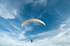 Flying paramotor Stock Photography