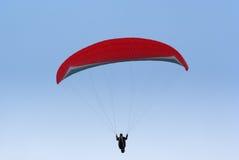 Flying paraplane Stock Image