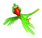 Flying Parrot cartoon character Stock Photos