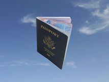 Flying Passport Stock Photos
