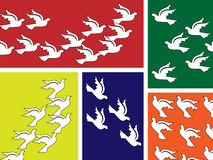 Flying peace dove banner. A flying peace dove in different styles on banner Stock Photo
