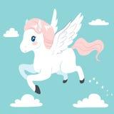 Flying Pegasus Stock Photo
