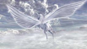 Flying pegasus Stock Image