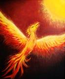 Flying phoenix bird as symbol of rebirth and new beginning. Flying phoenix bird as symbol of rebirth and new beginning royalty free illustration