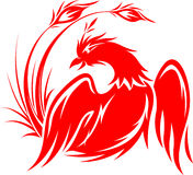 Flying phoenix in red royalty free stock photos