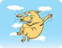 Flying Pig. When pigs fly?  How about now.  This crazy character has a can-do attitude Royalty Free Stock Images