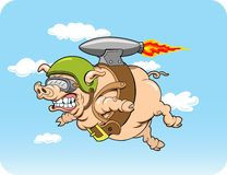Flying Pig. This is a  image done in multiple layers for easy editing Stock Image