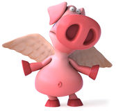 Flying pig Royalty Free Stock Image