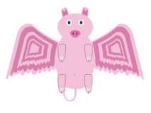 Flying pig. An illustration of a flying pig Stock Photos