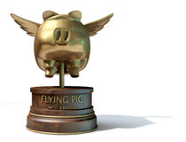 Free Flying Pig Trophy Award Royalty Free Stock Image - 51879746