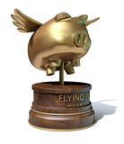 Flying Pig Trophy Award Royalty Free Stock Images