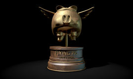 Flying Pig Trophy Award Stock Images