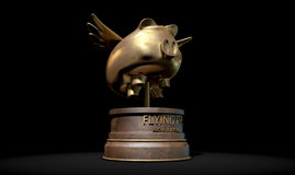 Flying Pig Trophy Award Royalty Free Stock Photography