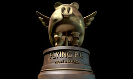 Flying Pig Trophy Award Royalty Free Stock Photos