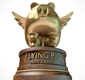 Flying Pig Trophy Award Stock Image