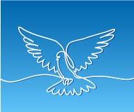 Flying pigeon logo Stock Photos