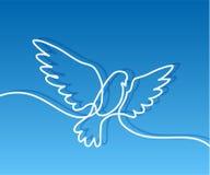 Flying pigeon logo Stock Image