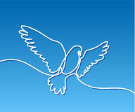 Flying pigeon logo Stock Photo