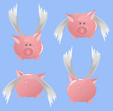 Flying piggi Royalty Free Stock Photography