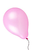 Flying pink balloon isolated on white background Stock Image