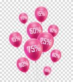 Flying pink discount balloon Stock Photo