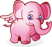 Flying Pink Elephant. A flying pink elephant, if you see him you are probably crazy or hallucinating Royalty Free Stock Photos