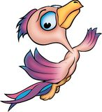 Flying pink parrot Stock Image