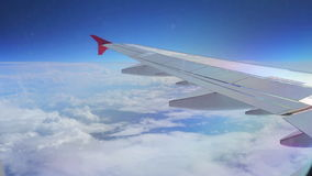 Flying plane Stock Image