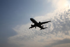 Flying plane Royalty Free Stock Photo