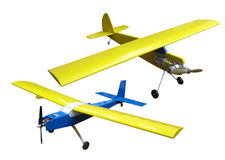 Flying plane model Stock Image