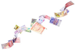 Flying Pounds Stock Photo