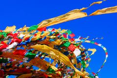 Flying Prayer flags Royalty Free Stock Photo