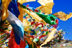 Flying Prayer flags Stock Image