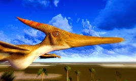 Flying pterodactyl Stock Photos