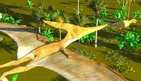 Flying pterodactyl Stock Photography