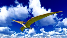 Flying pterodactyl Royalty Free Stock Photos